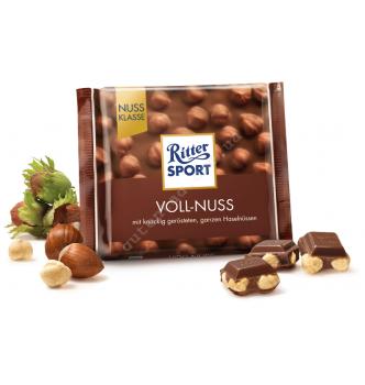 Купить Шоколад Ritter Sport молочный с цельным лесным орехом (100г) - с доставкой по Украине