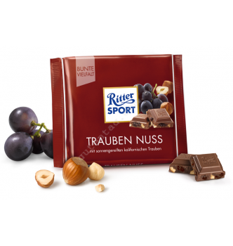 Купить Шоколад Ritter Sport молочный с изюмом и фундуком (100г) - с доставкой по Украине