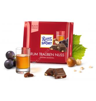 Купить Шоколад Ritter Sport с ямайским ромом (100г) - с доставкой по Украине