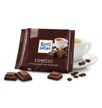 Купить Шоколад Ritter Sport со вкусом эспрессо (100г) - с доставкой по Украине