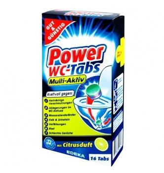 Купить Таблетки для чистки унитаза Gut&Günstig Power WC tabs 16 шт - с доставкой по Украине