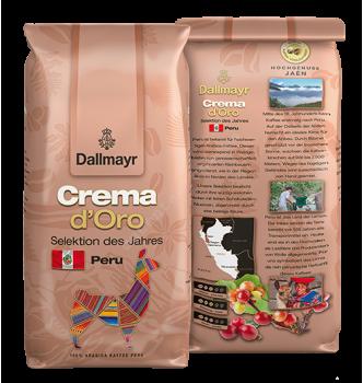 Купить Кофе в зернах Dallmayr Crema d'Oro Selektion des Jahres Peru (1кг) - с доставкой по Украине