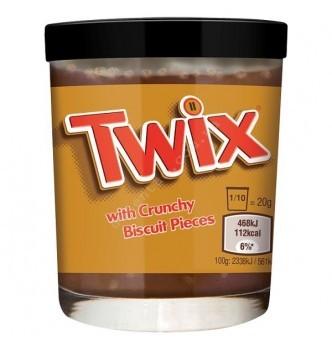 Купить Паста шоколадная Twix (Твикс) с кусочками бисквитного печенья 200г - с доставкой по Украине