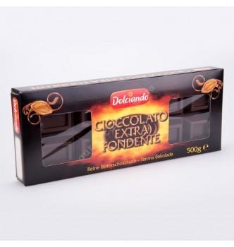 Купить Черный шоколад Dolciando Cioccolato Extra Fondente 500г - с доставкой по Украине