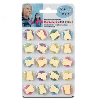 Купить Мультивитамины мишки для детей Multivitamine für Kinder Lutschtabletten Mivolis - DAS Gesunde PLUS 20шт - с доставкой по Украине