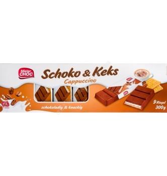 Купить Шоколад Mister CHOC Schoko & Keks Cappuccino, 300г - с доставкой по Украине