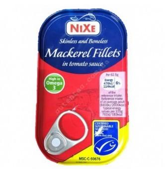 Купить Филе скумбрии в томатном соусе Nixe Mackerel fillets in tomato sauce 125 г - с доставкой по Украине