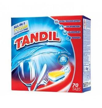 Купить Таблетки для посудомойки всекомпонентные Tandil all-in-1 POWER (70шт) - с доставкой по Украине