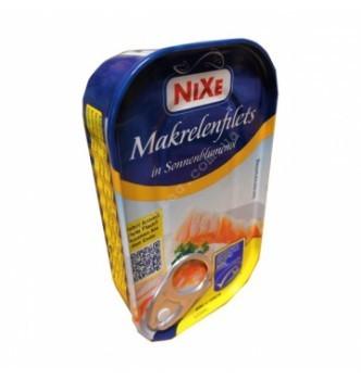 Купить Филе скумбрии в подсолнечном масле Nixe Mackerel fillets in Sonnenblumenol 125г - с доставкой по Украине