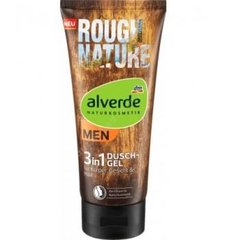 Купить Натуральный мужской гель для душа Alverde 3в1 MEN Duschgel Rough Nature, 200 мл - с доставкой по Украине