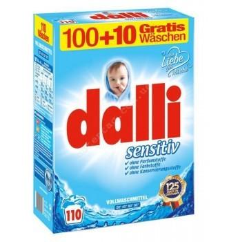 Купить Стиральный порошок для детского белья Dalli Sensitive 7.15кг 110 ст. - с доставкой по Украине