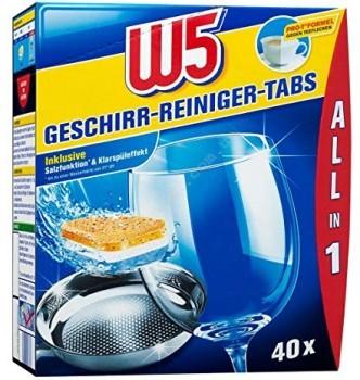 Купить Таблетки для посудомоечной машины W5, 40 шт - с доставкой по Украине