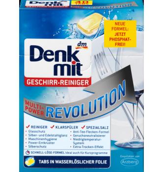 Купить Таблетки для посудомойки Денкмит мультисила революшин 40шт, Denkmit Spülmaschinen-Tabs Multi-Power Revolution, 40 St - с доставкой по Украине