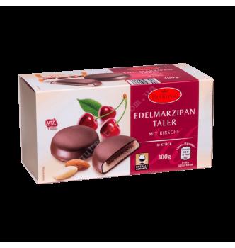 Купить Марципановый талер с вишневой начинкой Edelmarzipan Taler mit Kirsche Bel Royal 300 г - с доставкой по Украине