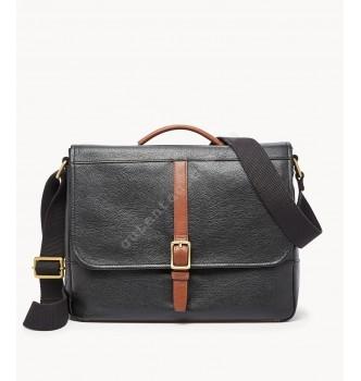Купить Мужская деловая сумка Fossil EVAN COMMUTER - цвет черный - с доставкой по Украине