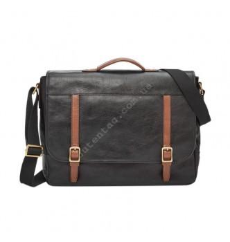 Купить Мужская деловая сумка Fossil EVAN MESSENGER - цвет черный - с доставкой по Украине