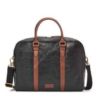 Купить Мужская деловая сумка Fossil EVAN WORKBAG - цвет черный - с доставкой по Украине