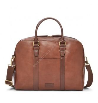 Купить Мужская деловая сумка Fossil EVAN WORKBAG - цвет коричневый - с доставкой по Украине