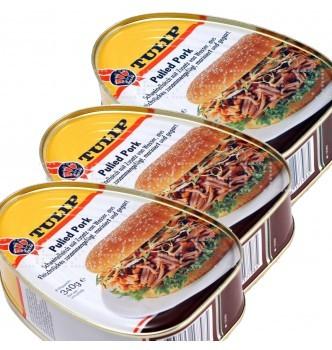 Купить Мясо консервированное Tulip Свинина Барбекю - 1020г (3шт по 340г) (Дания) - с доставкой по Украине