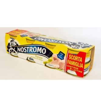 Купить Тунец в оливковом масле Nostromo (Ностромо) высший сорт 8шт по 80гр ж/б - с доставкой по Украине