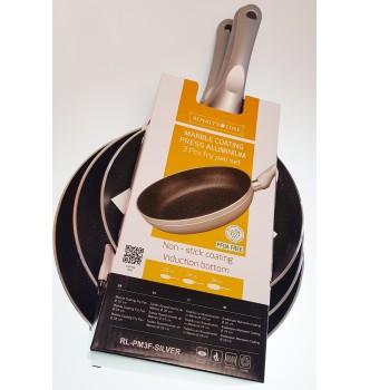 Купить Набор сковородок Royalty Line RL-PM3F-SILVER3 шт - с доставкой по Украине