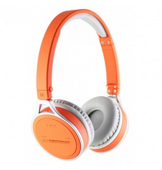 Купить Бездротові Bluetooth навушники Esperanza EH160O Помаранчеві - с доставкой по Украине