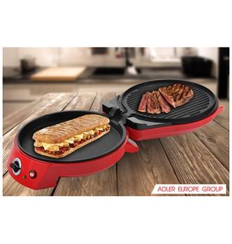 Купить Гриль контактный + пиццерия Adler AD 3033 Grill electric - pizza maker - с доставкой по Украине
