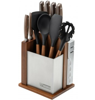 Купить Набор ножей CS KOCH SYSTEME Solingen SOLTAU 12tlg Messerblock с кухонными принадлежностями и точилкой, 12 предметов - с доставкой по Украине