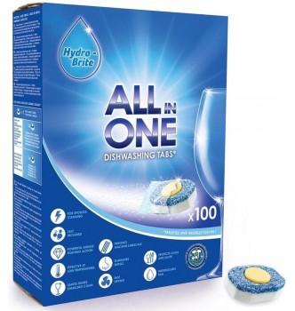 Купить Таблетки для посудомойки Hydrobrite премиум все в одном 100шт - с доставкой по Украине